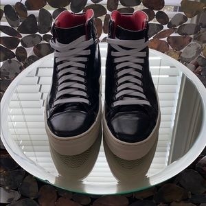 Base London Patent Leather Sneakers